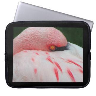 Manga del ordenador portátil del flamenco 15 pulga fundas computadoras