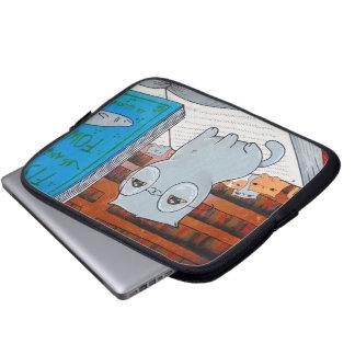 Manga del ordenador portátil del gato del bibliófi manga portátil