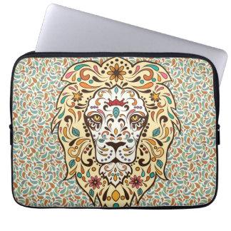 Manga del ordenador portátil del león del azúcar fundas portátiles