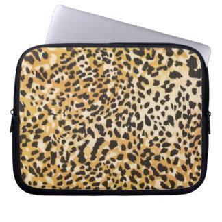 Manga del ordenador portátil del leopardo fundas portátiles