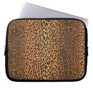 Manga del ordenador portátil del leopardo funda ordendadores
