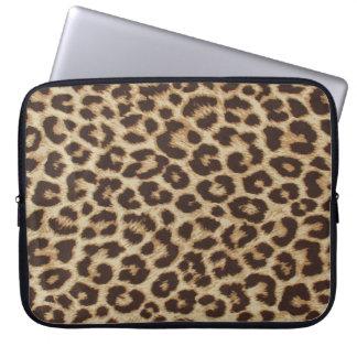 Manga del ordenador portátil del modelo del leopar funda ordendadores