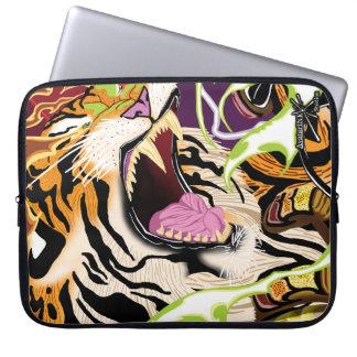 Manga del ordenador portátil del neopreno del tigr funda ordendadores