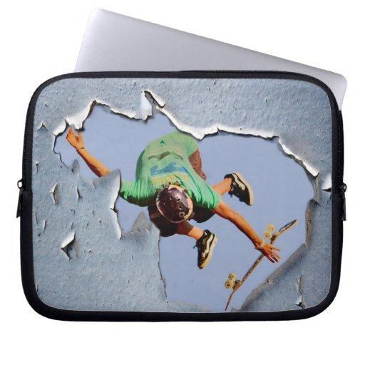 manga del ordenador portátil del patinador, Copyri Fundas Ordendadores