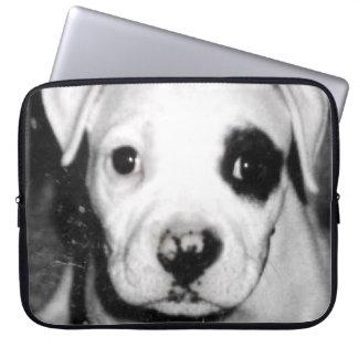 Manga del ordenador portátil del perrito funda ordendadores