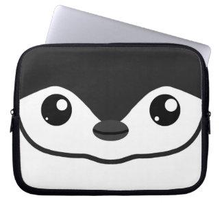Manga del ordenador portátil del pingüino de Chins Funda Computadora