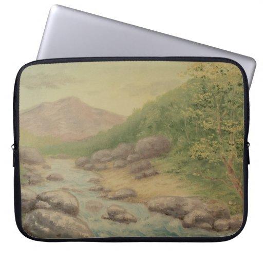 Manga del ordenador portátil del río de la montaña funda computadora