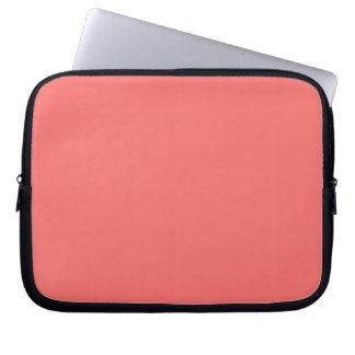 Manga del ordenador portátil del rosa de color sal funda portátil