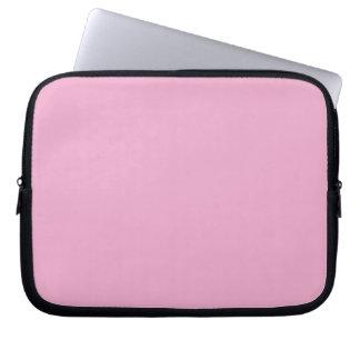 Manga del ordenador portátil del rosa en colores p funda ordendadores