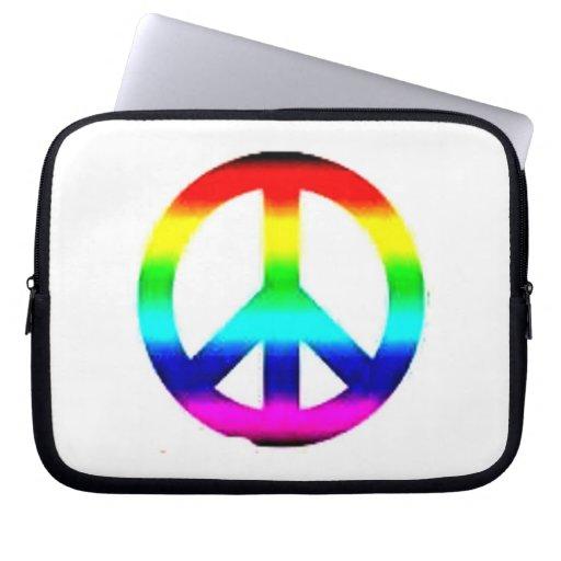 Manga del ordenador portátil del signo de la paz d manga computadora