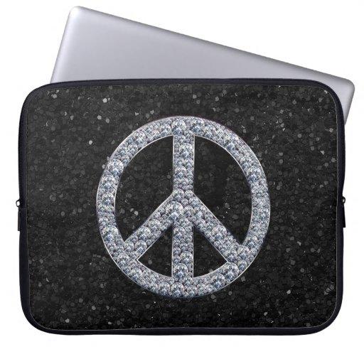 Manga del ordenador portátil del signo de la paz d funda computadora
