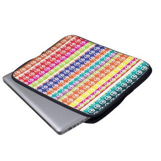manga del ordenador portátil del signo de la paz d fundas computadoras