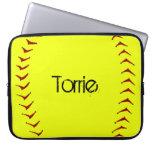Manga del ordenador portátil del softball de Fastp Funda Computadora