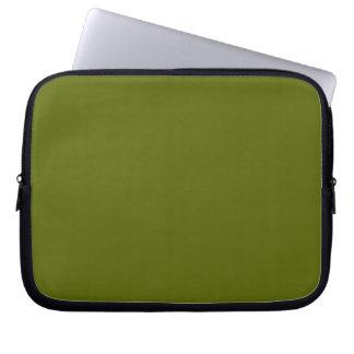 Manga del ordenador portátil del verde verde oliva mangas portátiles