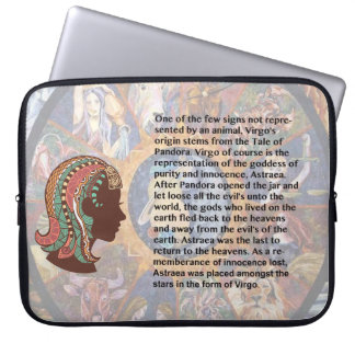 Manga del ordenador portátil del virgo del origen fundas portátiles