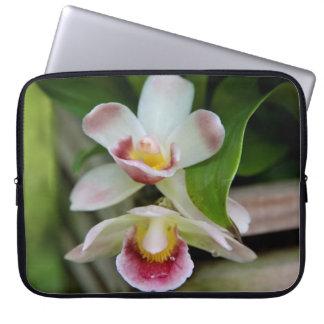 Manga del ordenador portátil - orquídea en abanico funda ordendadores