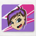 Manga diseñó al chica Mousepad de Emo Alfombrillas De Raton