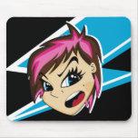 Manga diseñó al chica Mousepad de Emo Alfombrilla De Ratones