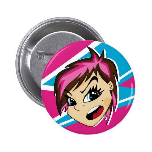 Manga diseñó la insignia del chica de Emo Pin