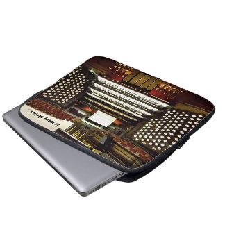 Manga divertida del ordenador portátil del órgano  mangas portátiles