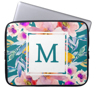 Manga elegante moderna floral del ordenador funda ordendadores