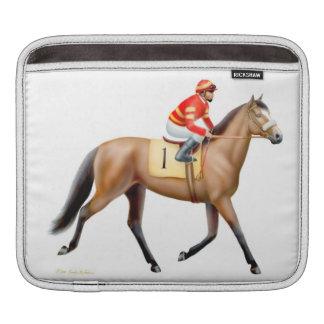 Manga excelente del carrito del caballo de carrera fundas para iPads
