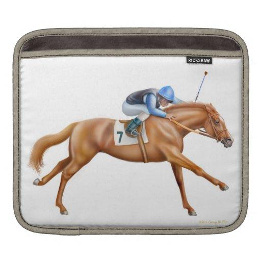Manga excelente del carrito del caballo de carrera mangas de iPad