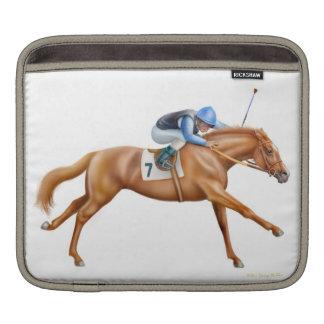 Manga excelente del carrito del caballo de fundas para iPads