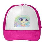 Manga Fairy Girl Anime Colorful Rainbow Magic Eyes Mesh Hats