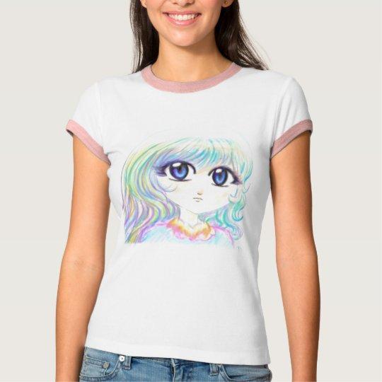 Manga Fairy Girl Anime Colorful Rainbow Magic Eyes T-Shirt