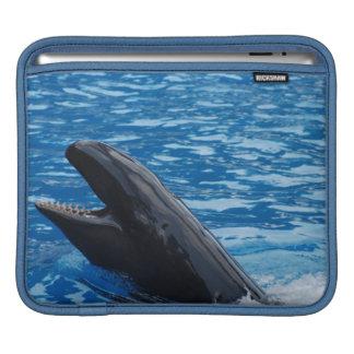 Manga falsa del iPad de la orca Funda Para iPads