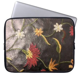 Manga floral del ordenador portátil de la impresió fundas portátiles