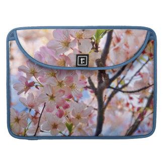 Manga floreciente de la aleta del carrito del fundas macbook pro