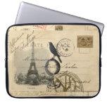 Manga francesa del ordenador portátil de la postal funda computadora