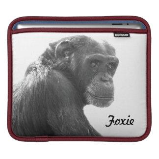 Manga fresca del iPad del chimpancé de Foxie Funda Para iPads