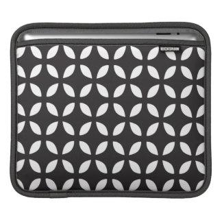 Manga geométrica blanco y negro del iPad Fundas Para iPads