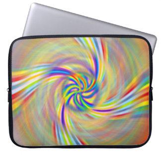 Manga giratoria del ordenador portátil del arco ir funda ordendadores