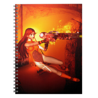 Manga girl with a weapon notebooks