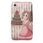 Manga girl with chocolate cake iPhone 3 hoesjes
