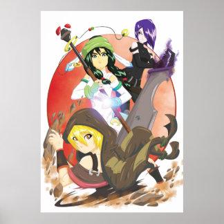Manga Girls 1   TAOFEWA Female Elemental Force Poster