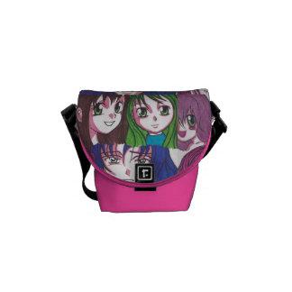 Manga Girls Mini Bag Courier Bag