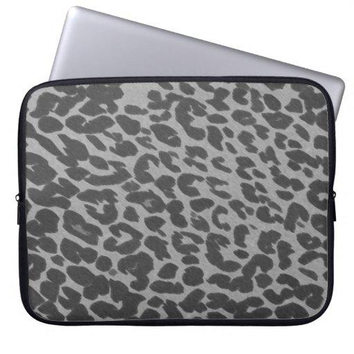 Manga gris del ordenador portátil del estampado le mangas portátiles