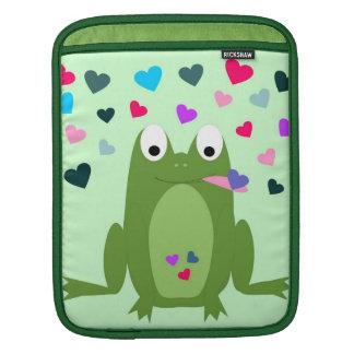 Manga hambrienta del iPad de la rana del amor Funda Para iPads