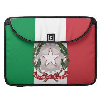 Manga italiana de la aleta del carrito del escudo  fundas para macbook pro
