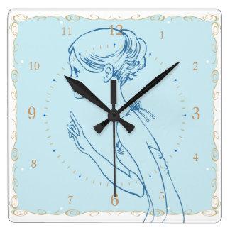 manga Japón del dibujo del chica Reloj