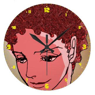 manga Japón del dibujo del chica Relojes De Pared