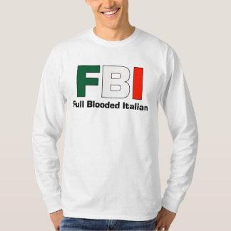 Manga larga blanca italiana llena T del FBI Playera