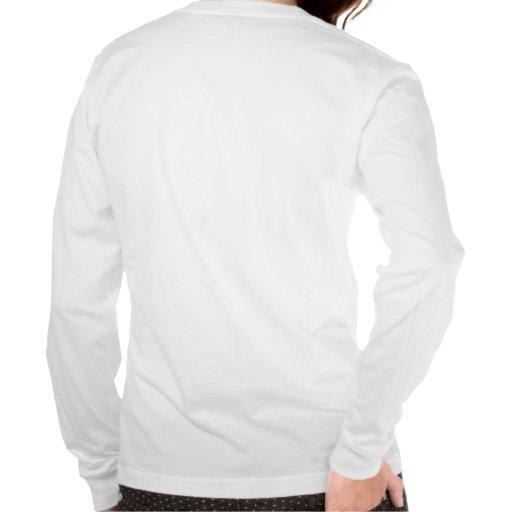 Manga larga cabida para mujer camiseta