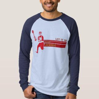 manga larga de la camisa JD del lacrosse del