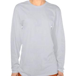 Manga larga de la ceniza de las mujeres de la lite camisetas
